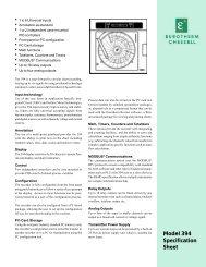 Model 394 Specification Sheet - ACI Instrumentation Limited