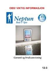 Garanti og bruksanvisning - Neptun