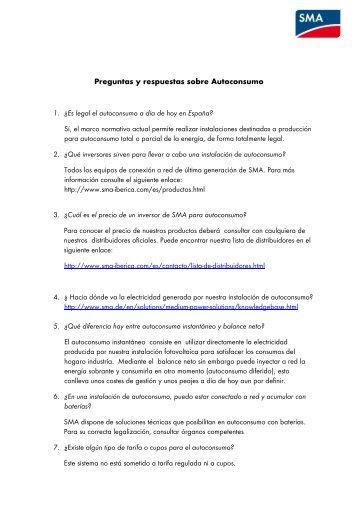 Más información - SMA Ibérica