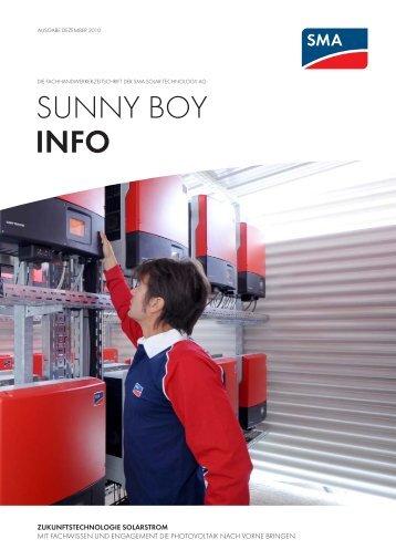 SUNNY BOY Info Ausgabe Dezember - SMA Solar Technology AG