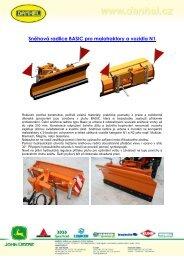 Sněhová radlice BASIC pro malotraktory a vozidla N1 - E-shop
