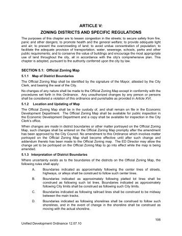 article v: zoning districts and specific regulations - City of Gautier