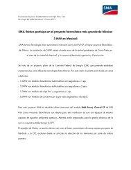 SMA Ibérica participa en el proyecto fotovoltaico más grande de ...
