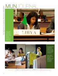 MUN Journal 2009-2010 - the Aga Khan Schools
