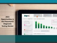 2015 Opportunities in the Pneumonia Diagnostic Testing Market