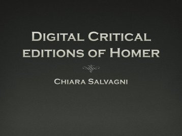 Presentation (PDF) - Digital Classicist