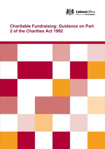 Charitable Fundraising: Guidance on Part 2 of the Charities Act 1992