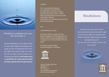Mindfulness - Institut for Relationspsykologi