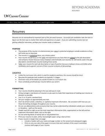psu career services resume