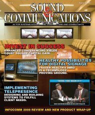 Wrap-up - Sound & Communications