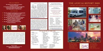 THE ANNUAL REPORT 2009 - Goldenagecenters.org