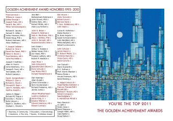 you're the top 2011 the golden achievement awards - Golden Age ...