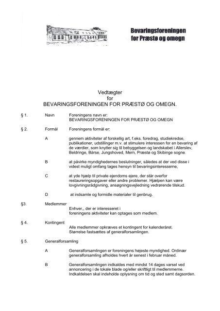 2012 - Bevaringsforeningen for Præstø og omegn
