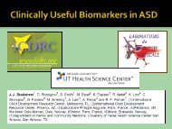 Clinically Useful Biomarkers in ASD - icdrc