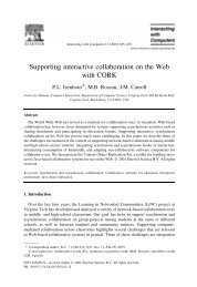 Supporting interactive collaboration on the Web with CORK - LiNC