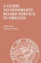 A Guide to Nonprofit Board Service in Oregon - Community Action ...