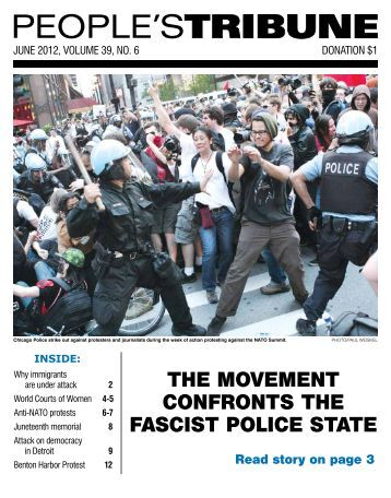 The MoveMenT confRonTs The fascisT police ... - People's Tribune