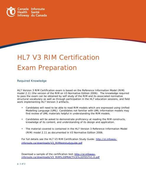 Hl7 Study Guide Pdf