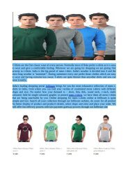 Buy T-Shirts from Online Shopping Store Infibeam.com