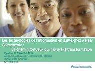Les technologies de l'information en santé chez Kaiser Permanente ...