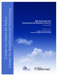 High Speed Rail and Greenhouse Gas Emissions - Center for ...