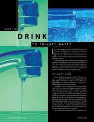 Let's Drink to Private Water - Presidential Climate Action Project