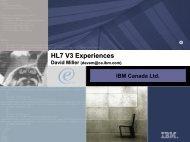 HL7 V3 Experiences