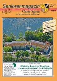Seniorenmagazin Oder-Spree 2. Ausgabe 2015