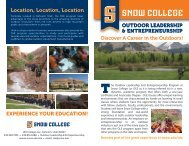 View Brochure - Snow College