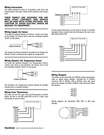 Wiring multiple dampers installation instructions duro dyne for Zone damper motor repair
