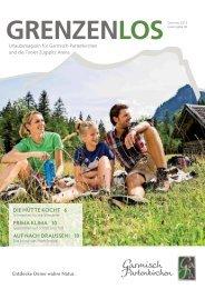 Gästemagazin GRENZENLOS Sommer 2015