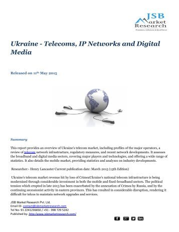 JSB Market Research – Ukraine - Telecoms, IP Networks and Digital Media