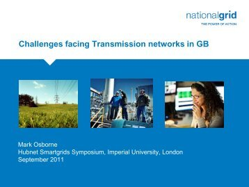 Challenges Facing Transmission Networks in GB