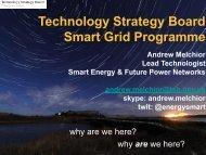 TSB Smart Grid Programme