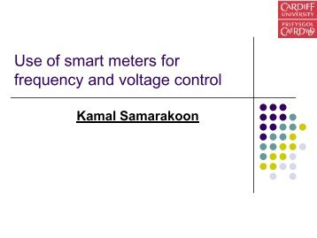 Use of Smart Meters for Frequency and Voltage ... - Supergen HubNet
