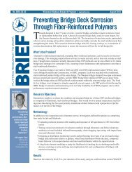 Preventing Bridge Deck Corrosion Through Fiber-Reinforced ...