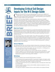 Developing Critical Soil Design Inputs for the M-E Design Guide ...