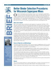 Better Binder Selection Properties for Wisconsin Superpave Mixes ...