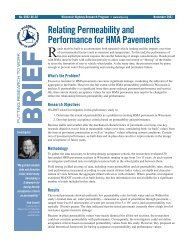 Relating Permeability and Performance for HMA Pavements ...