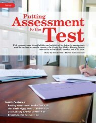 CSD Putting Assessment to the Test - Center for Shelter Dogs
