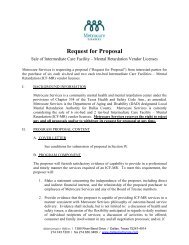 Request for Proposal - Metrocare Services