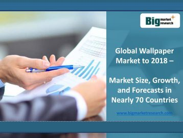 Global Wallpaper Market Size, Growth, Forecasts in Nearly 70 Countries to 2018
