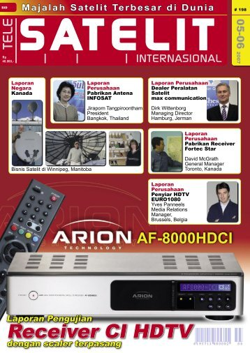 Receiver CI HDTV - TELE-satellite International Magazine