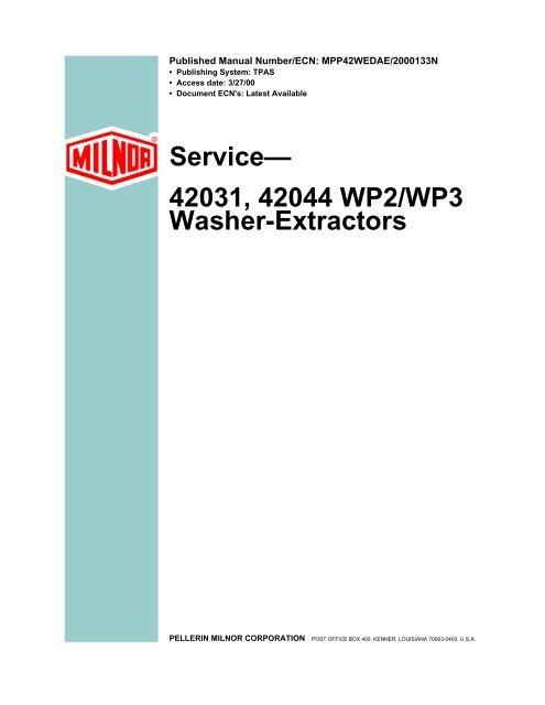42031, 42044 WP2/WP3 Washer-Extractors - Cissell-part com