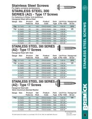 Stainless Steel Self Drilling Screws - RGA and PSM Fasteners
