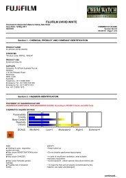 Chemwatch Australian MSDS 24-9482 - FUJIFILM Australia