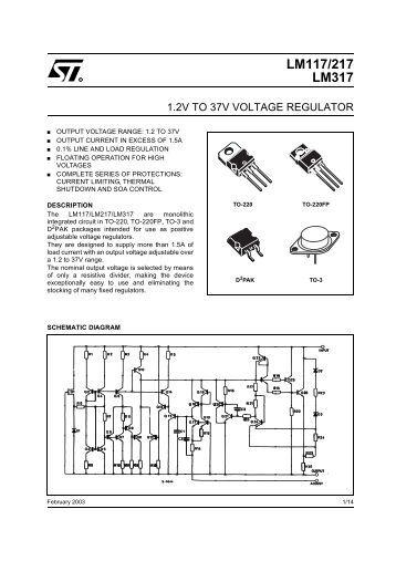 LM317, NCV317 1.5 A Adjustable Output, Positive Voltage