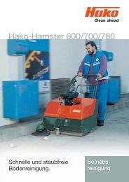 Prospekt Hako Kehrsaugmaschine Hako-Hamster 600-700-780
