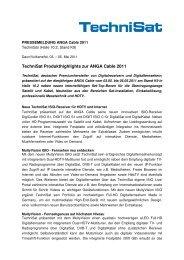 PM_ANGA Cable_TechniSat Produkthighlights zur ... - ANGA COM