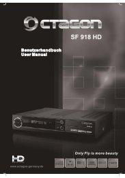 Anleitung SF918 HD silber - Octagon Schweiz
